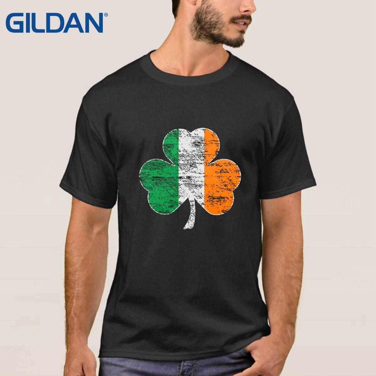 Black flag t shirt vintage - 2017 New T Shirt Vintage Irish Flag Shamrock High Black For Men Tee Shirts Polyester Cloth