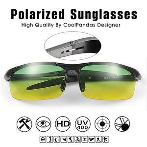 Image 4 - Lunettes de soleil unisexe polarisées UV400 pour la conduite, de jour et de nuit, Anti éblouissement masculin et femme, pour la conduite