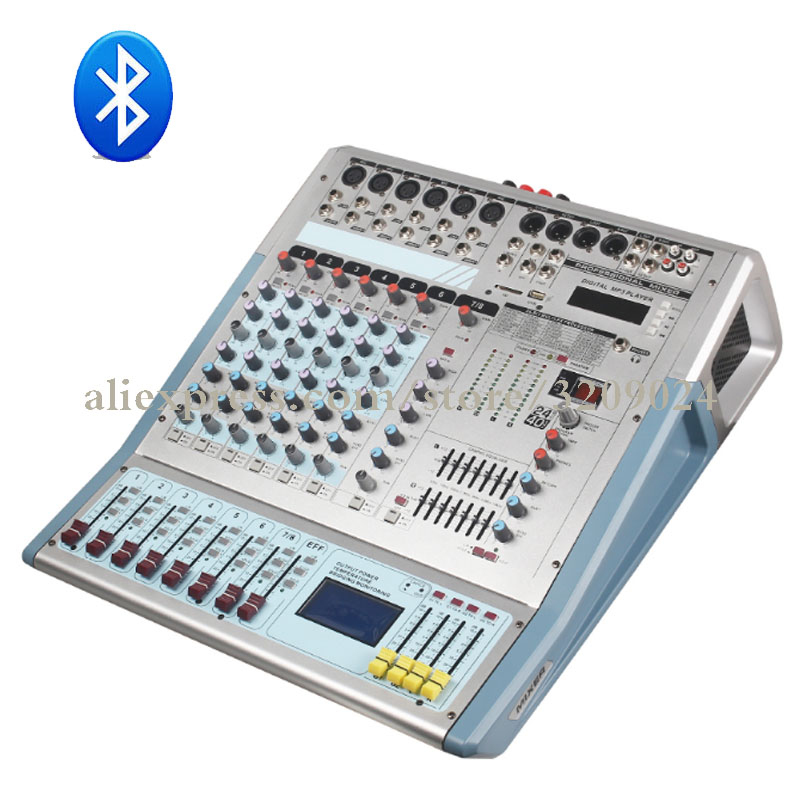 8 channel mixer reverberation karaoke bluetooth usb microphone mixer amplifier mixer system. Black Bedroom Furniture Sets. Home Design Ideas