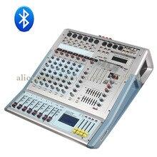 8 Channel Mixer Reverberation Karaoke Bluetooth USB Microphone Mixer Amplifier Mixer System 2000W Ultra High Power