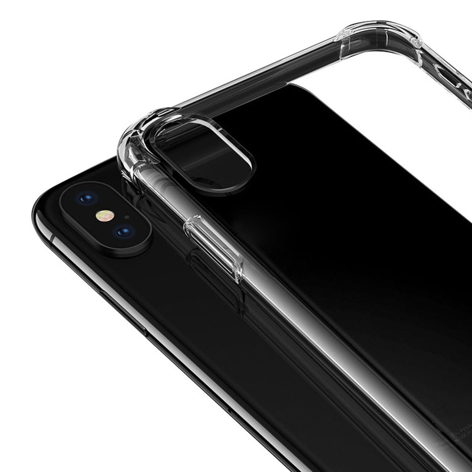 YWEWBJH Clear Silicon Soft TPU Case For iPhone 7 7Plus 8 8Plus X XS MAX XR Transparent Case For iPhone 5 5s SE 6 6s 6Plus 6sPlus in Fitted Cases from Cellphones Telecommunications