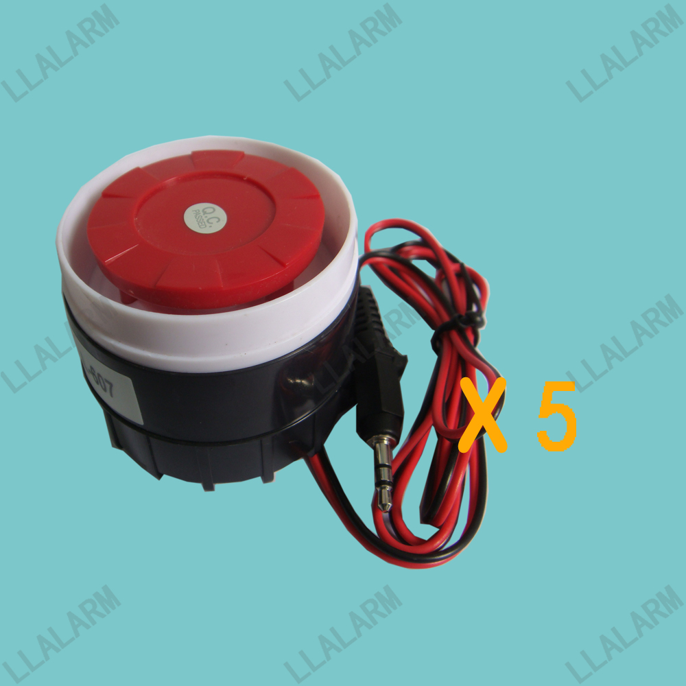 Lower Price with 5pcs/lot~90db Wired Mini Siren Alarm Siren Sound For Home Security Alarm Siren Security Alarm