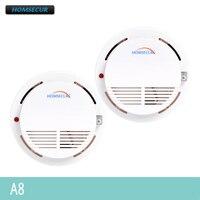 HOMSECUR 2 個 A8 433 315mhz のワイヤレス煙/火災警報センサー私達の警報システム