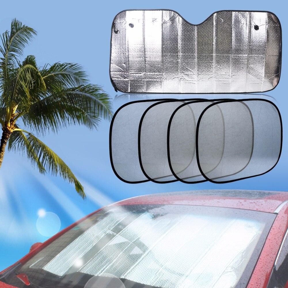 5pcs Foldable Car Front Rear Windshield + Side Window Sunshade For Mercedes Audi Toyota Camry VW Kia Sportage BMW 3 Series Kia
