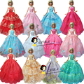 free shipping 30items=10dress+10 shoes+10 hangers Party Wedding Dress Clothes Gown dress For Barbie doll bride dress