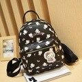 2016 Mulheres Da Moda olá kitty pu leather Backpack School Bolsas para Adolescentes Senhora Viagem pequenas Mochilas Mochila Feminina