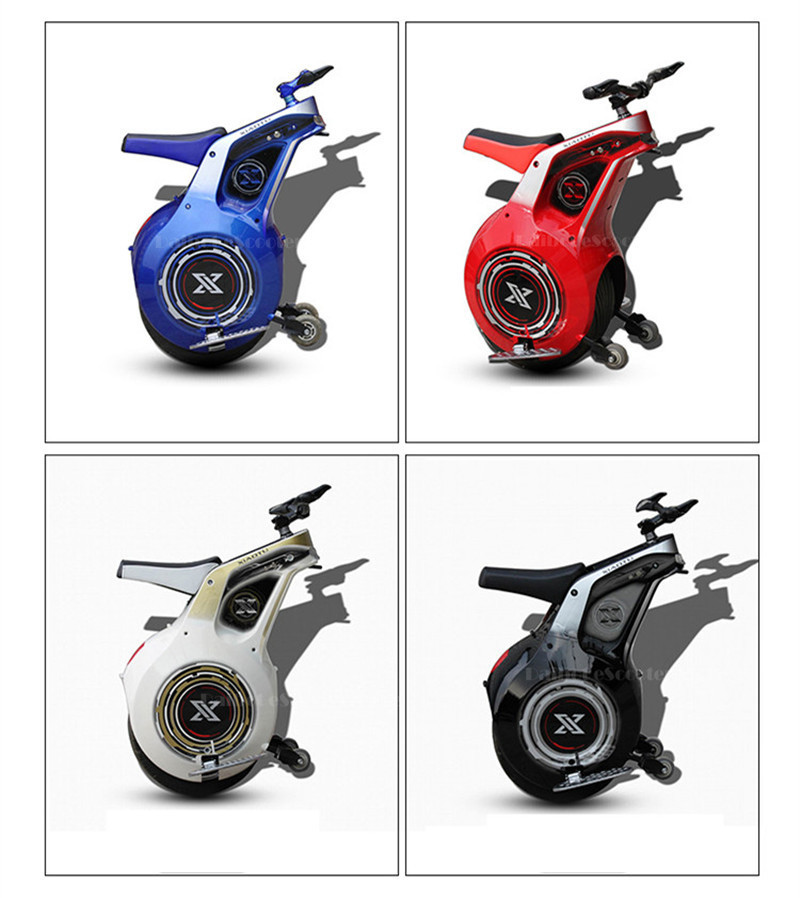New 19 Inch Electric Motorcycle Adult With APP One Wheel Self Balancing Scooters Powerful 800W 60V Electric Unicycle One (29)