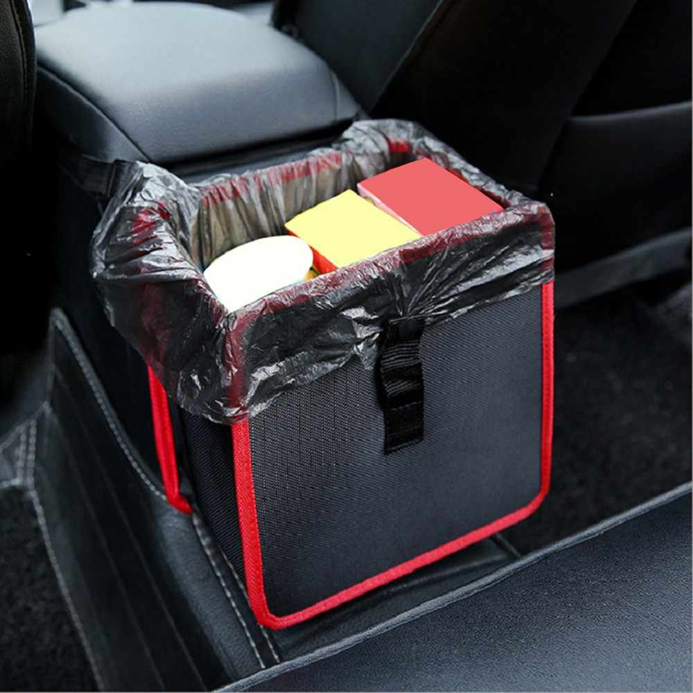 Car-styling Car Trash Comfortable Car Garbage Can Portable Drive Bin Premium Hanging Wastebasket Seat td0920 dropship