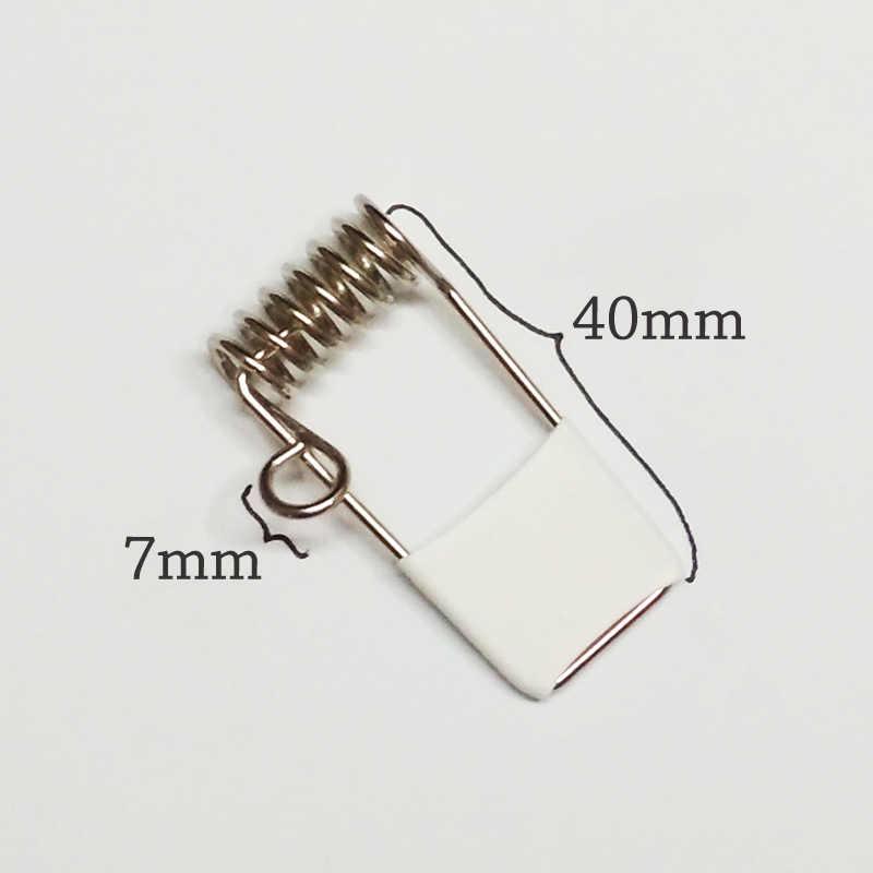 Accesorios de iluminación clip de resorte fijo para Panel de luz LED resorte hebilla pequeño círculo resorte clip, lámpara led clip tubo de 40*1,2mm