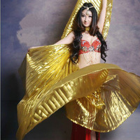 2015 Hot Popular Women Egyptian Belly Dance Isis Wings Golden Belly Dancing Wing On Sale