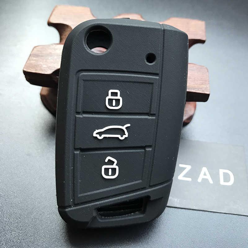 Zadシリコンリモートキーケース用vwゴルフ7用フォルクスワーゲンゴルフ7 mk7 golf7 3ボタン車のキーカバーケース