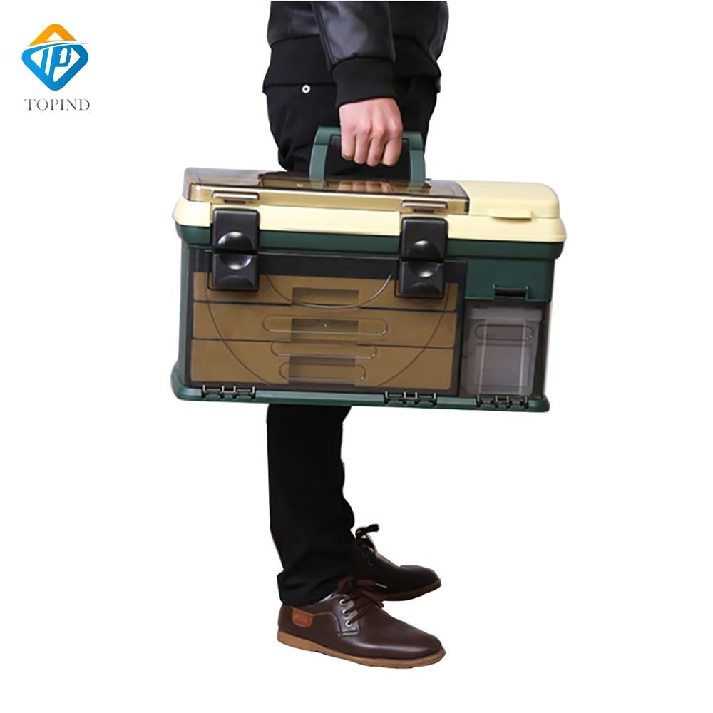 550*300*300mm PP + PC + TPE Große Angelgerät Box High Quality TPE Griff Fischerei Box Karpfenangeln Tools Zubehör - 6