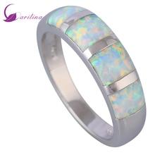 Fashion Opal rings Fine Jewelry Women's rings White Fire Opal 925 Sterling Silver Wedding Party ring size 5 6 7 8 9 R520