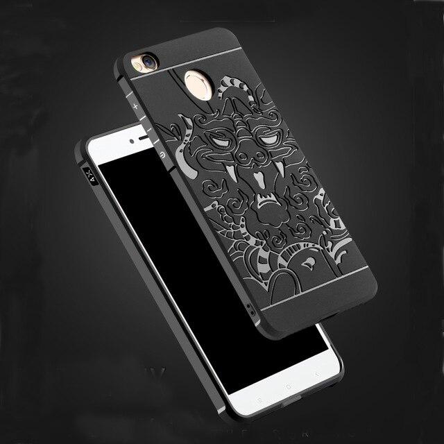 Lyxig telefonfodral för Xiaomi Redmi 4X högkvalitativ silikonhård skyddande bakomslag för xiaomi redmi 4x telefonskal