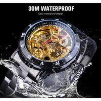 Diamond Mechanical Mens Wrist Watch