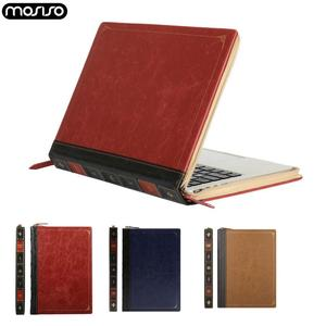 Image 1 - Mosiso Laptop Pu Case Voor Nieuwe Macbook 2019 2018 Air 13 Inch A2159 A1932 Notebook Pu Cover Voor Nieuwe Pro13 15 Touch Bar 2017 2018