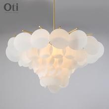 Plafonniers suspendus en boule de verre, design nordique moderne, luminaire décoratif de plafond, idéal pour le salon, la chambre à coucher ou la salle à manger