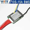 3.6 V/3.7 V celular 10 S 36 V 15A BMS Utiliza para 36 v 10ah 12ah 15ah batería 15A continua 50A pico de descarga Con el equilibrio función