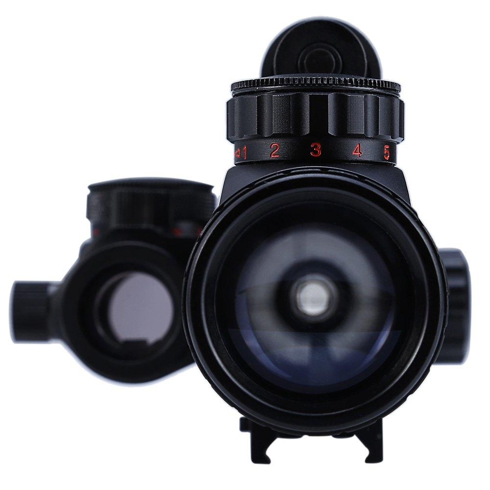 3-9X40 Mira telescópica reflectante de punto rojo 3 en 1 con cola de - Caza - foto 3