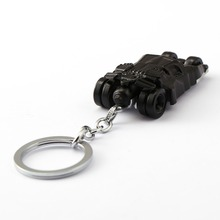 Black Batmobile Keychain