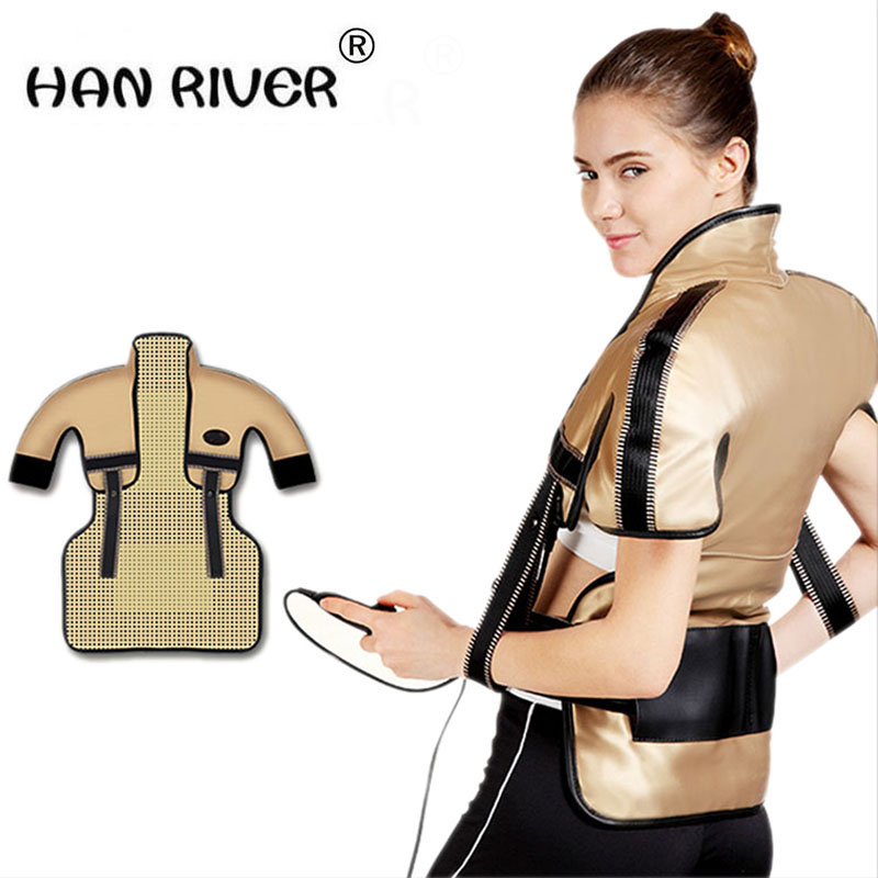 Back Massager Far-infrared heat therapy Neck Shoulder Beats Shawl Relaxation Pain Relief Health Care Chinese medicine moxibustio common sense relief instant reusable heat pack for back pain neck and shoulders knee