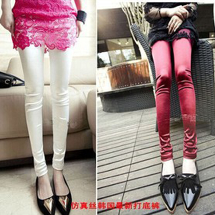 896d4a9a1aa85 The new version of pure bright Silk Satin Leggings ultra smooth nine jeans  wholesale-in Leggings from Women's Clothing on Aliexpress.com | Alibaba  Group