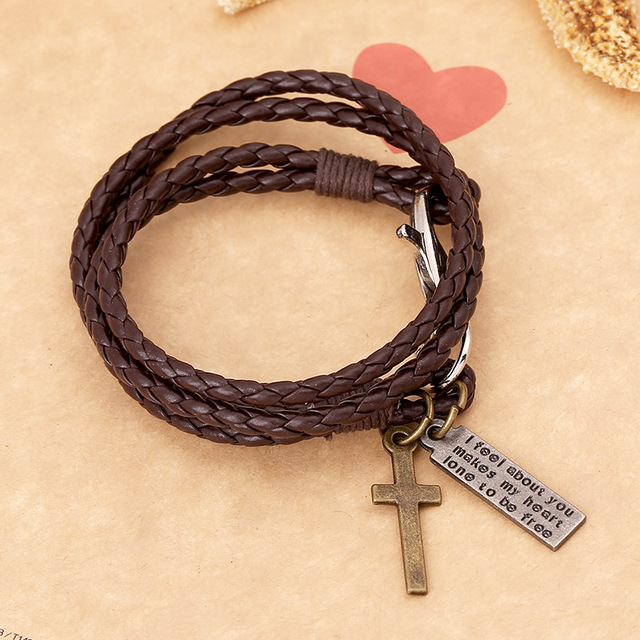 Vintage Cross Matched with Vintage Braided Genuine Leather