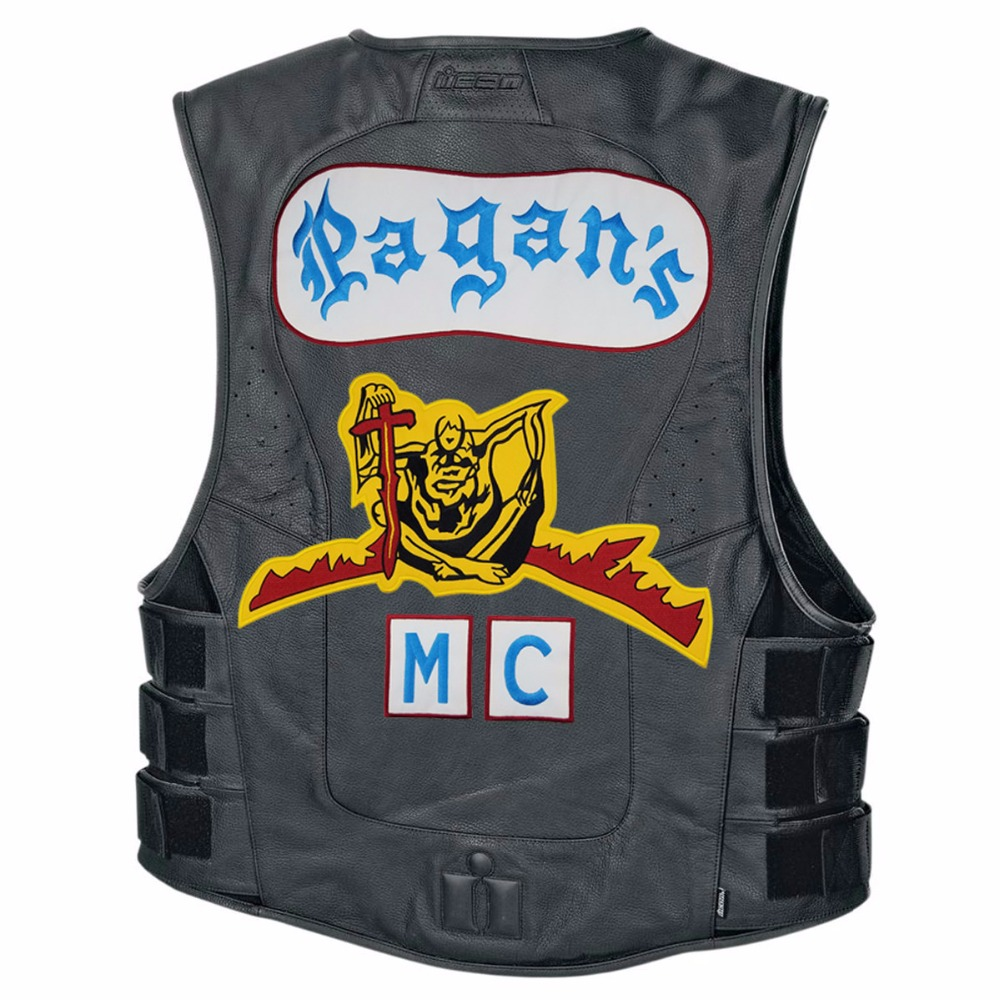 mc1931 Pagans Motorcycle Patch 1% Biker Rider Vest MC Embroidered Patch For  Back of Jacket Patch G0412 Free Shipping