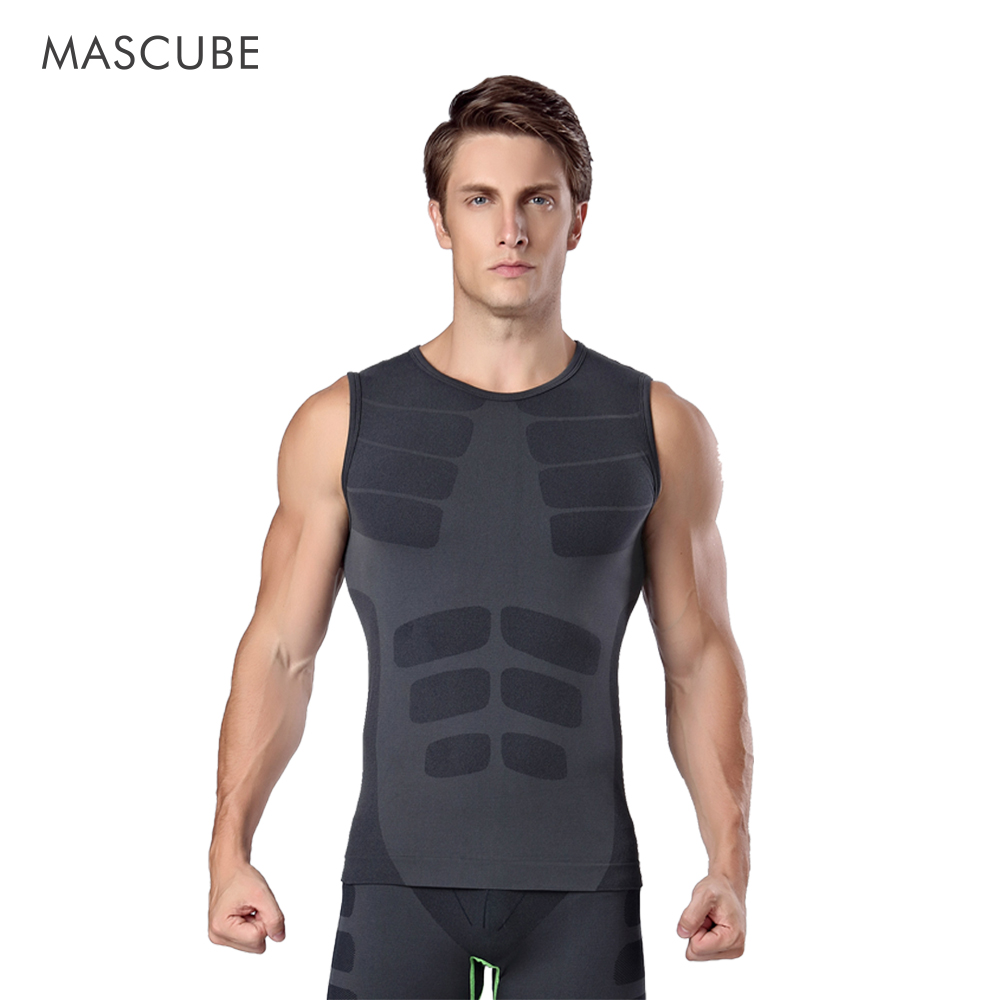 MASCUBE Mens Compression Shirts Bodybuilding Skin Tight Vest Jerseys Clothings Crossfit Exercise Workout font b Fitness