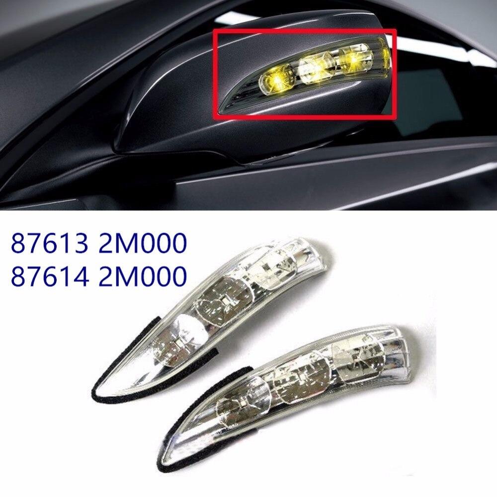 Véritable droite côté gauche miroir répéteur Signal lampe assemblée pour hyundai Genesis coupé 2009-2015