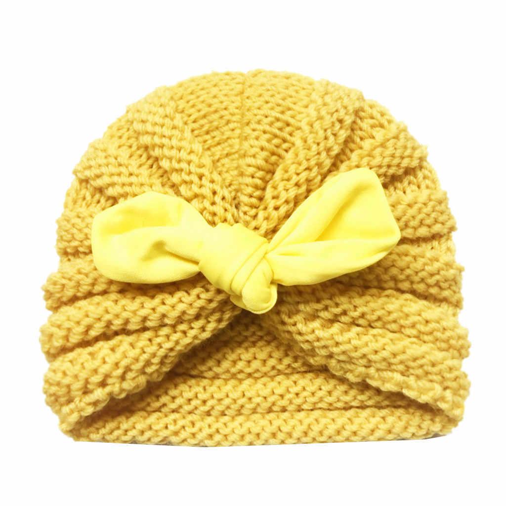 1PC หมวกทารกแรกเกิดน่ารักเด็กวัยหัดเดินเด็กทารกเด็กทารกเด็ก Turban หมวกผ้าฝ้าย Beanie หมวกฤดูหนาวหมวกเด็กอุปกรณ์เสริม 2019 ใหม่มาถึง