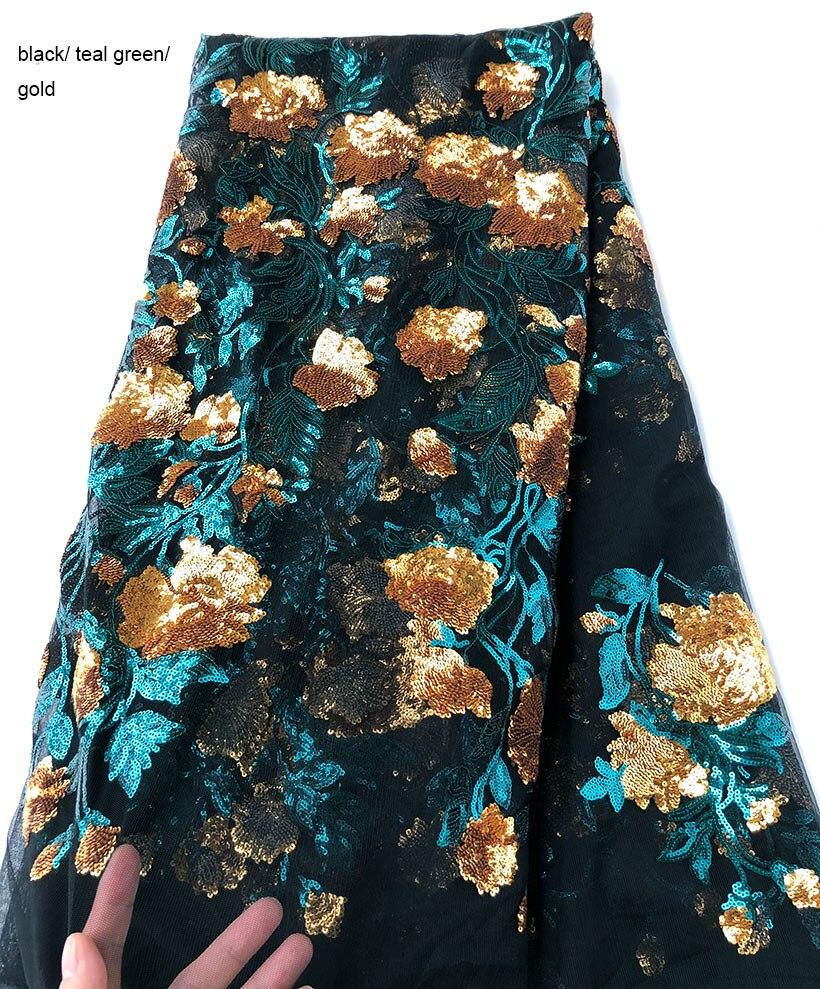 좋은 꽃 장식 조각 얇은 명주 그물 레이스 반짝 이는 부드러운 프랑스어 레이스 원단 아프리카 의류 봉제 천 조각 당 5 야드 고품질-에서레이스부터 홈 & 가든 의  그룹 2