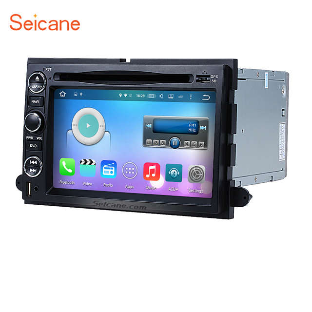 Seicane 1din Radio Gps Navigation For 2005 2010 Ford Mustang Expedition Fusion Explorer Support Wifi
