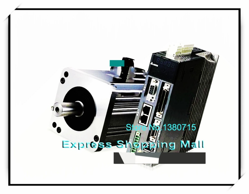 ECMA-E31310PS+ASD-A1021-AB 220V 1KW 4.77NM 2000RPM 130mm AC Servo Motor & Drive kits 2500ppr new used servo drive servo motor 1 6kw 220v 8n 2000 plus transfer