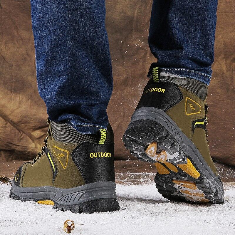 Top Khaki Neve Além De Botas Sapatos Quentes grey Ag471 Masculino Lazer Livre Ao Caminhada Algodão Ar E Alta Dos Homens army Veludo Confortáveis Green zw8Rqaz