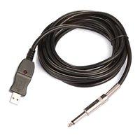 Bán buôn 5X3 M Guitar để PC USB Recording Cable Lead Adaptor Chuyển Đổi Giao Diện Kết Nối 6.5 mét