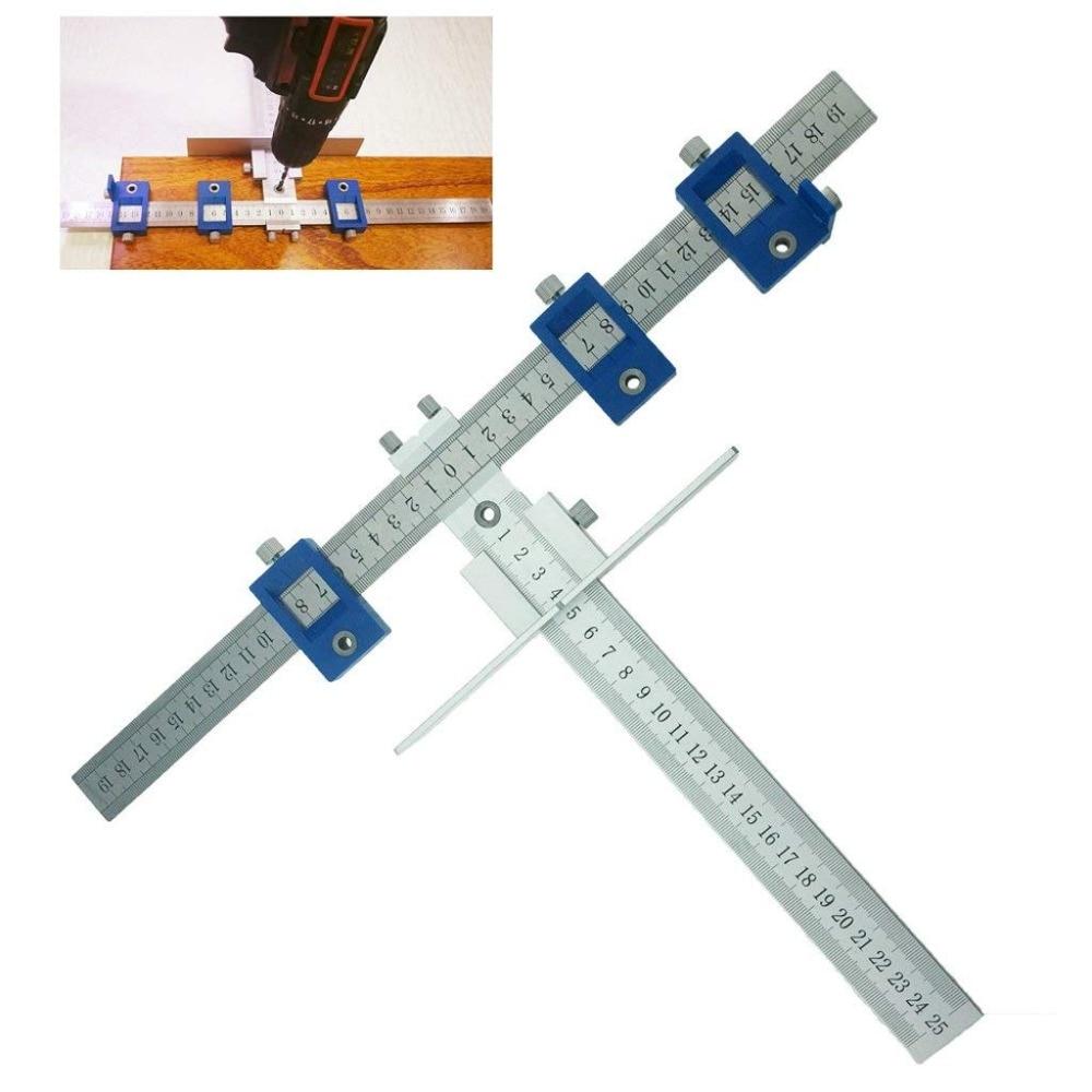 New Aluminum Alloy Cabinet Hardware Jig Position tool Cabinet Hardware Jig Drill Guide for 5mm Drill Bit Power Tool Alloy