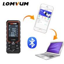 LOMVUM nueva llegada Bluetooth USB láser Rangefinders medidor de distancia Digital láser distancia batería-alimentación láser