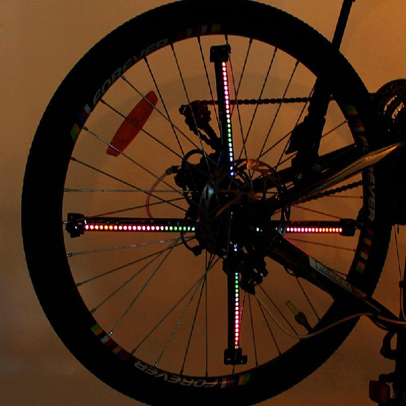 Xuanwheel colorido luzes da bicicleta ciclismo roda falou luz 192 pçs leds rgb diy ciclo bicicleta luz inteligente acessórios - 4