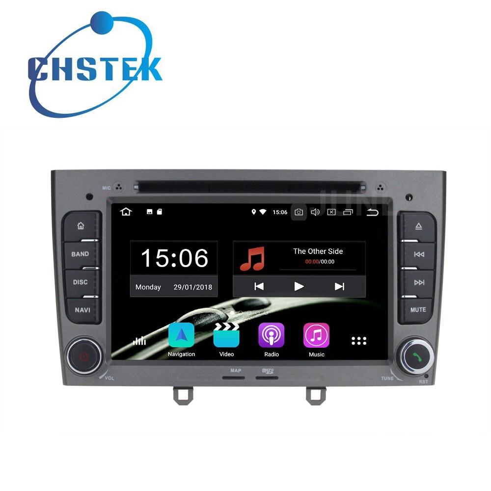 Octa core 4 gb RAM Android 8.0 Lecteur DVD de Voiture Radio GPS pour Peugeot 408 2010-2011 Peugeot 308 2008-2011 avec WiFi BT stéréo