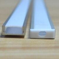 10 50pcs/Lot 1m led strip aluminum profile for led rigid bar light led bar housing aluminum channel with cover end cap clips