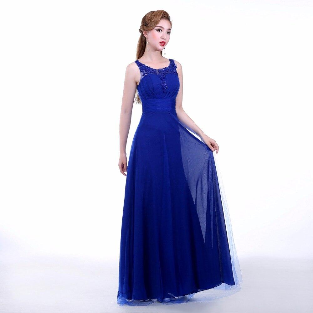 Royal Blue Straight Prom Dress