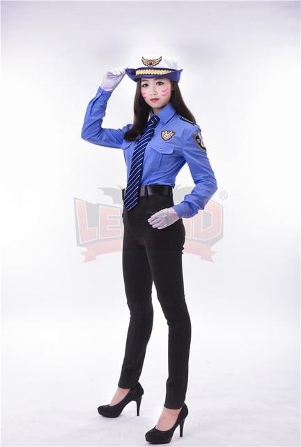 police costume dva costume 2017 new skin officer Dva cosplay d.va police costume police uniform full set adult costume 2