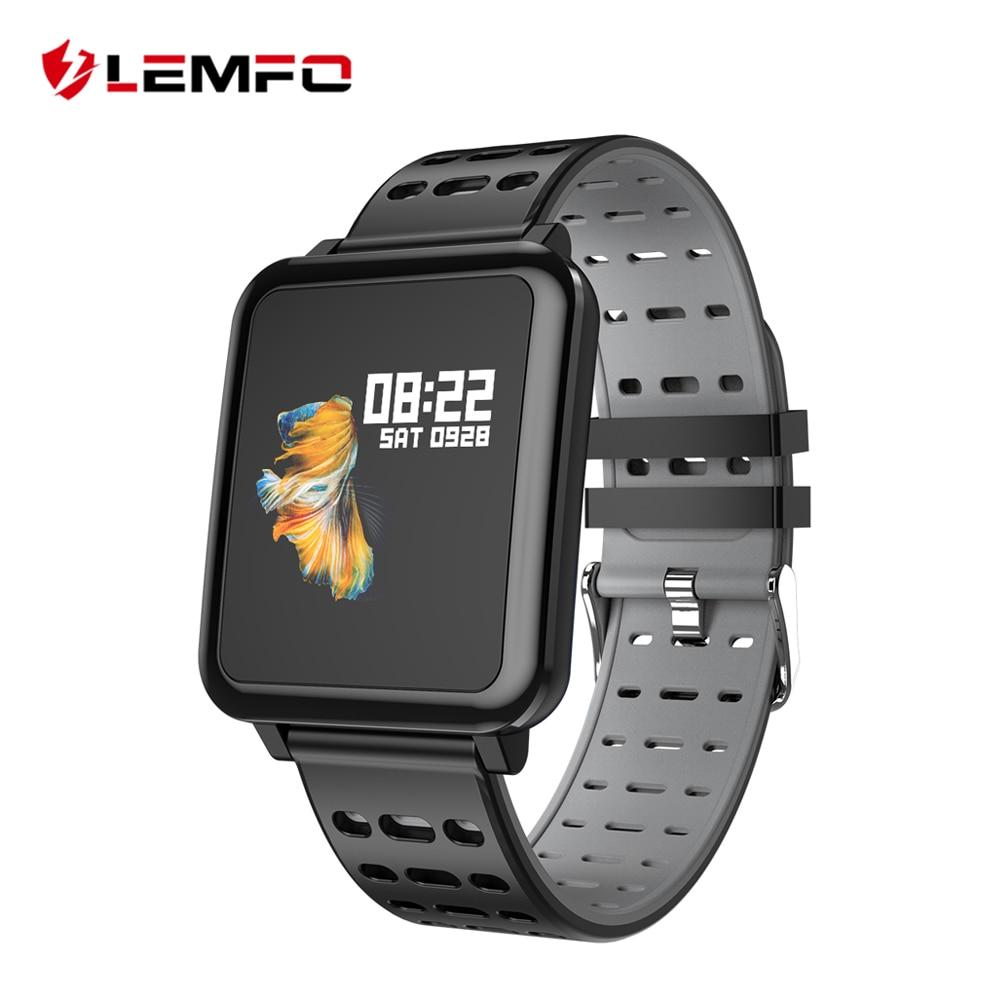 LEMFO Q8 inteligente reloj de los hombres IP67 vida impermeable deporte profesional modos de espera largo soporte de múltiples idiomas reloj de las mujeres