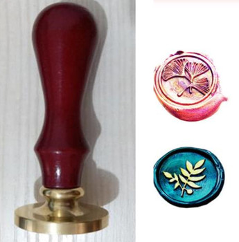 Retro drewniany znaczek antyczne pieczęć pieczęć woskowa kwiat Palm pieczęć Post znaczki dekoracyjny kwiat znaczek prezent ślubny wystrój tanie i dobre opinie XunMade plant seal stamp Standardowy znaczek Metal Spersonalizowane motto