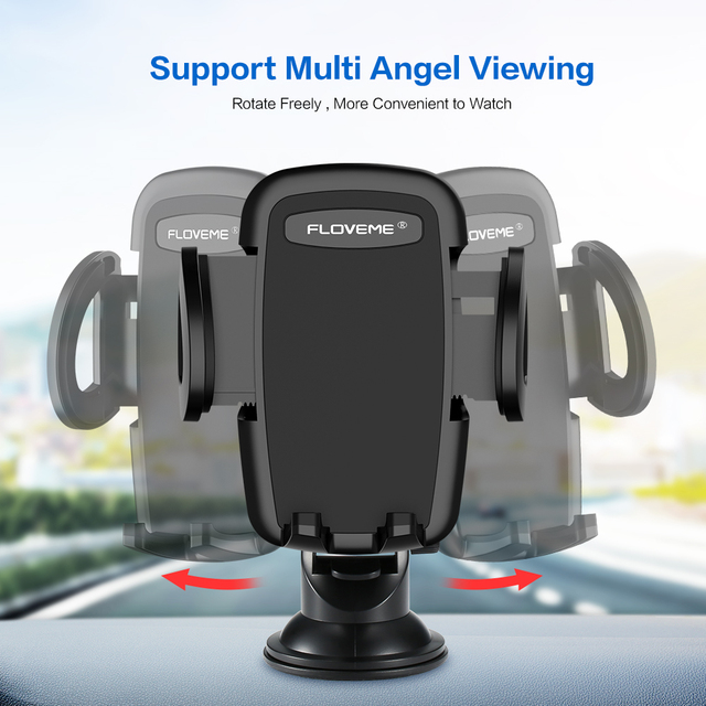 FLOVEME Luxury Car Phone Holder For iPhone XS Max 360 Rotation Phone Mount Holder Windshield Mount Stand Support Telefon Tutucu 4