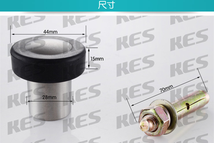 Brushed Finish KES Home Limited U.S. KES HDS207-2 SOLID SUS304 Stainless Steel Door Stop Wall Mount