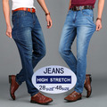 Fashion Mens Slim Fit Jeans Pants Men's High Stretch Black Blue Spandex Denim Jeans Plus Size 40 42 44 46 48 7718