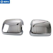 MOPAI Auto Rückspiegel Shell Rückspiegel Dekoration Abdeckung Aufkleber für Jeep Wrangler TJ 1997 2006 Auto Zubehör styling