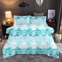 Geometric Scaly Cloud Printing Bedding Set Bedclothes Pillowcase Duvet Cover Set Bed Linen Queen King Size ropa de cama
